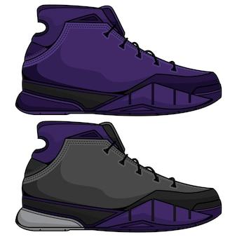紫のバスケットボールシューズ