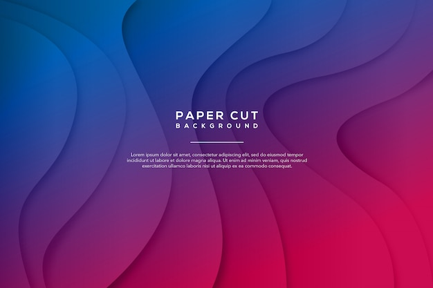Purple blue abstract paper cut background