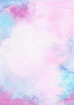 수채화와 보라색 파란색 추상 질감 배경