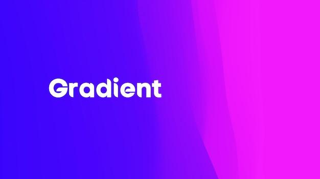 紫青のグラデーション波。ネオングラデーショングラフィックカラー背景。ベクトルイラスト、