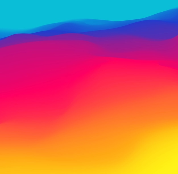 Purple blue red yellow gradient wave. neon gradient graphic color background. vector illustration, fluid vibrant wave.