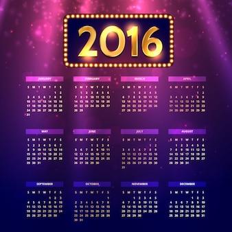 Viola bokeh 2016 calendario
