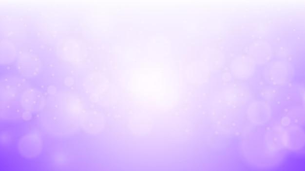 반짝이는 입자와 보라색 bokeh 배경