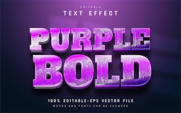 Purple bold text effect editable