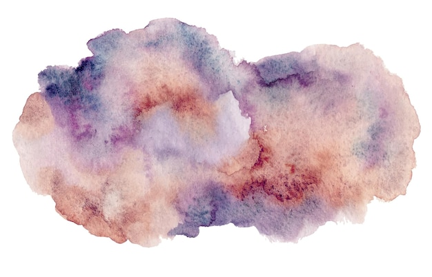 보라색 갈색 추상 수채화