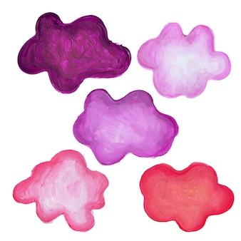 Purple brush stokes