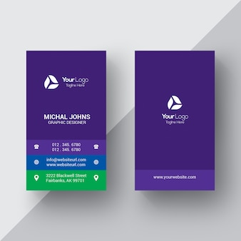 Purple busines card
