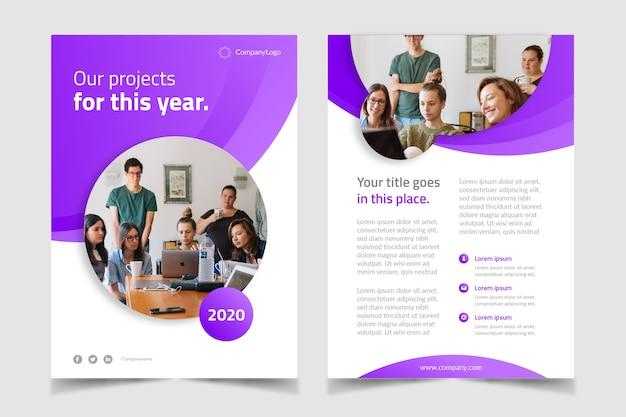 Purple business template