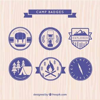 Purple camp badges