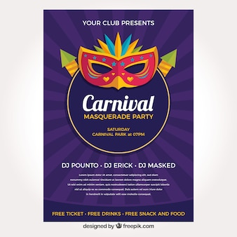 Purple carnival flyer template