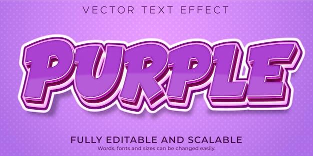 Purple cartoon  text effect editable comic and fun text style