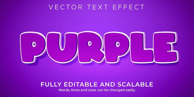 Purple cartoon text effect editable comic and funny style