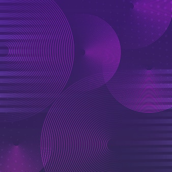 Purple circle pattern background vector
