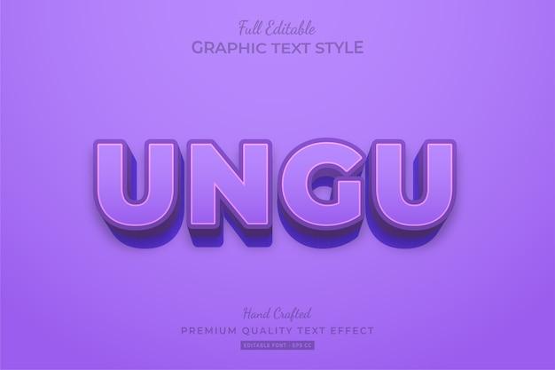 Purple clean editable premium text effect