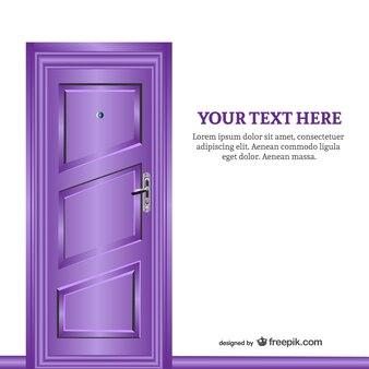 Purple closed door