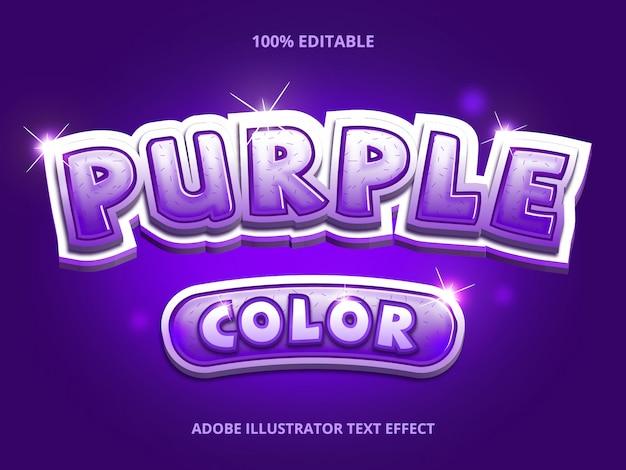 Purple color text, editable font effect