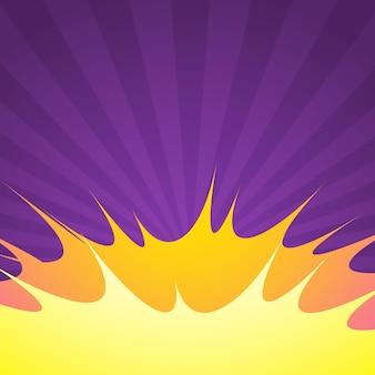 Purple comic background with blast