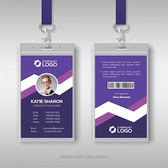 Purple corporate id card template