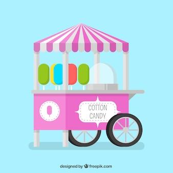 Purple cotton candy cart