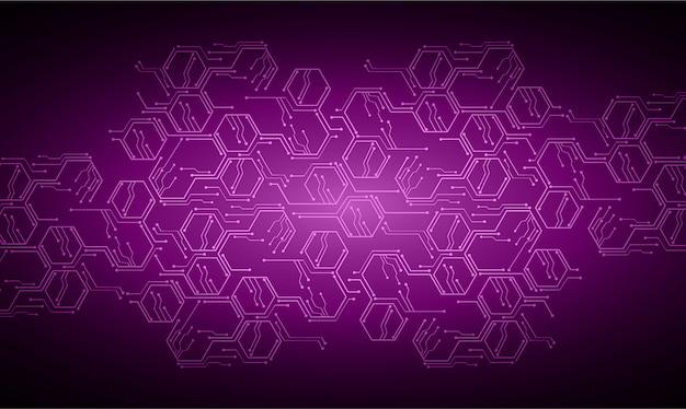 紫色のサイバー背景