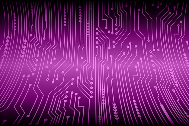 Purple cyber circuit future technology concept background