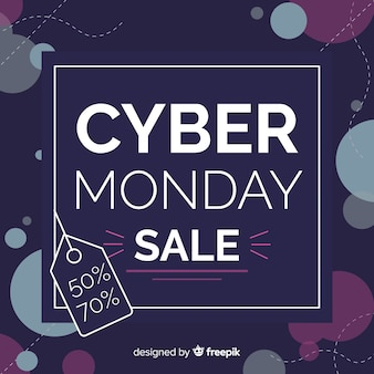 Purple cyber monday sale banner