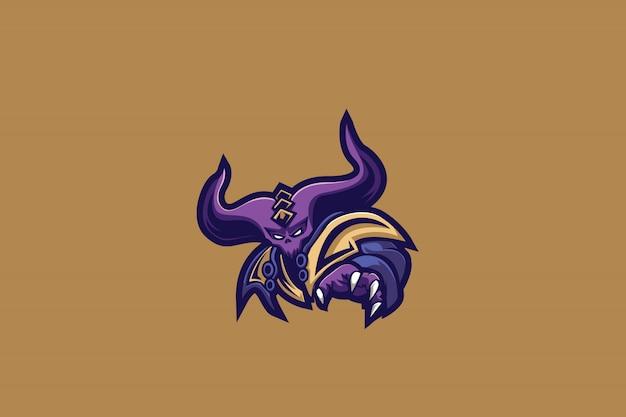 Purple demon e sports logo