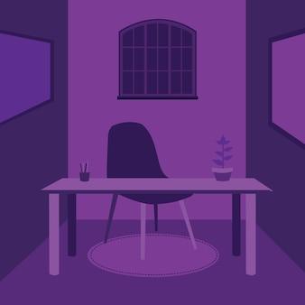 Purple desk