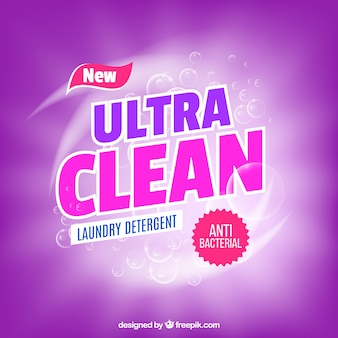 Purple detergent background