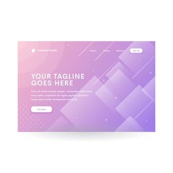 Purple diamond gradient modern website header