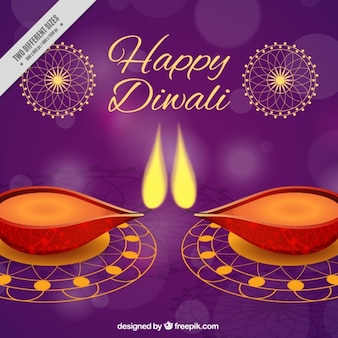 Purple diwali background