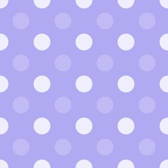紫のドットハーフドロップ繰り返しシームレスパターン、シンプルなモノクロの背景