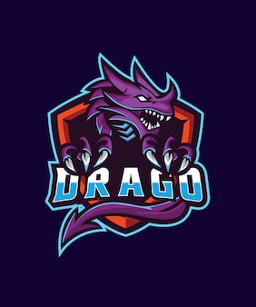 Purple drago e sports logo