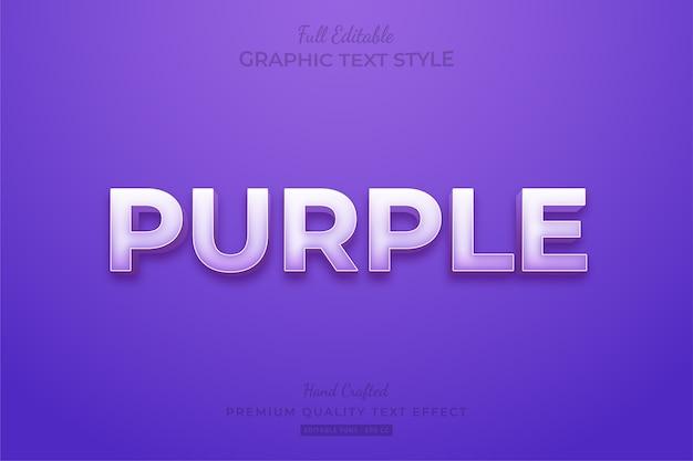 Purple editable custom text style effect premium
