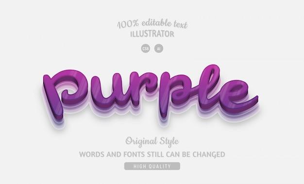 グラデーション付きの紫色の編集可能な紫色のテキスト。