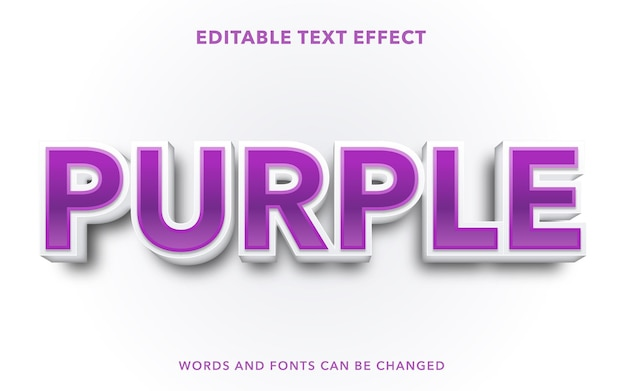 Purple editable text effect style