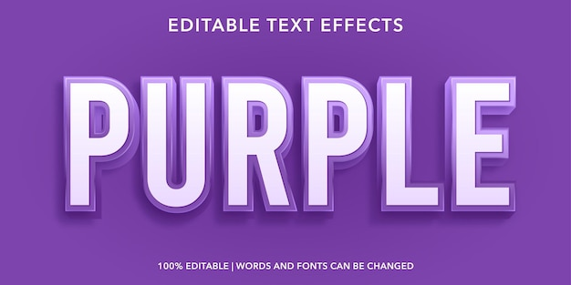 紫の編集可能なテキスト効果