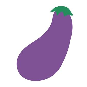 Фиолетовый баклажан каракули стиль векторных элементов handdraw иллюстрации