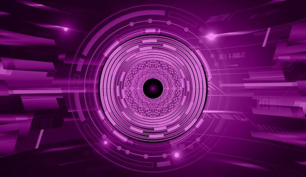 Фиолетовый глаз кибер цепи будущей технологии концепции фон