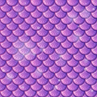 Purple fish scale seamless pattern background