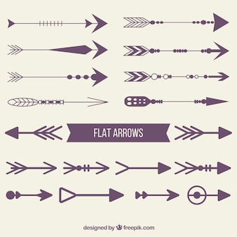 Purple flat arrows