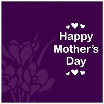 보라색 꽃 어머니의 날 배경