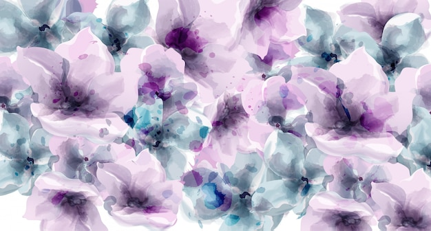Purple floral watercolor. provence rustic poster. wedding card, birthday ceremony event decors