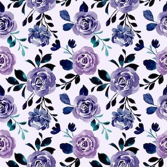 Фиолетовый цветочный акварель бесшовные модели