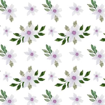 Purple flower floral seamless pattern