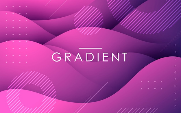Purple fluid shape abstract geometric background