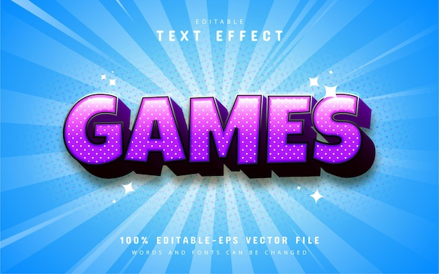 Purple game cartoon style text effect