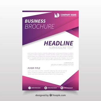 Purple geometric business flyer template