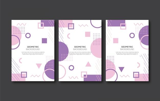 紫色の幾何学的なカバーの背景