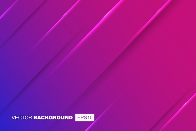 Purple geometric modern fluid background composition with gradients, shadows and lights